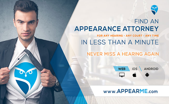 AppearMe, appearance attorneys